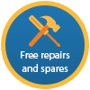 Free Repairs and Spares