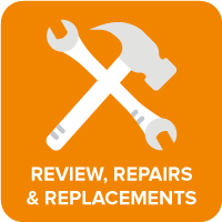 Reviews, Repairs and Replacements