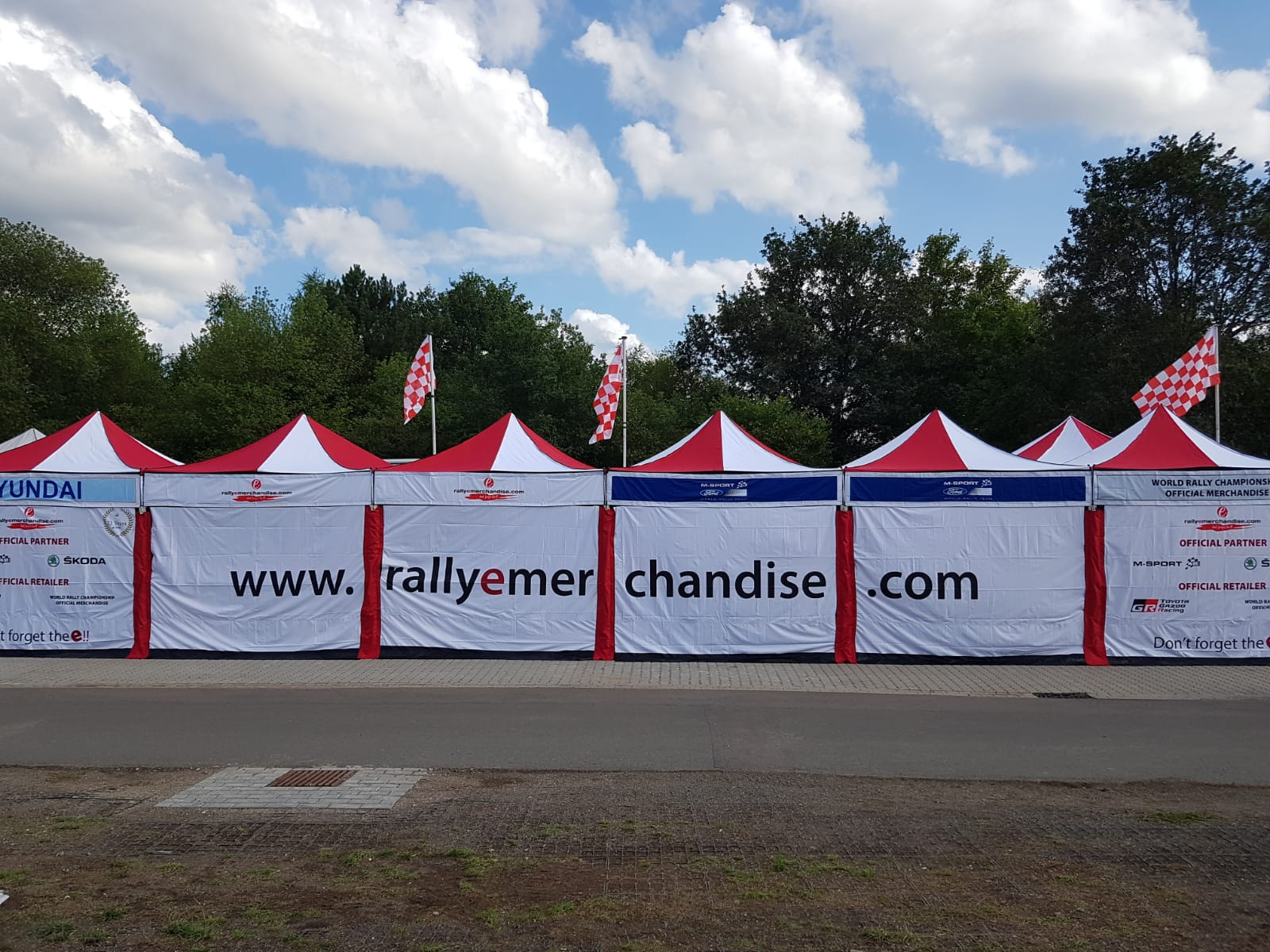 rally retail joined branded gazebos